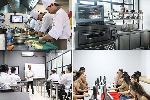 hệ thống phòng học kỹ thuật chế biến món ăn