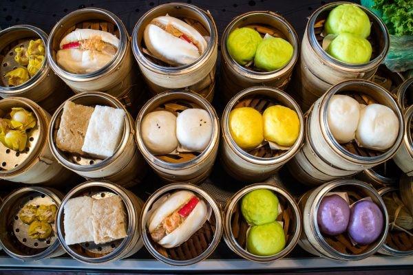 Các món ăn Dimsum vô cùng đa dạng và phong phú về màu sắc, hương vị