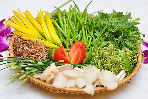 Các loại rau ăn lẩu hải sản