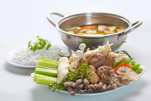 Lẩu hải sản dành cho những người ăn chay
