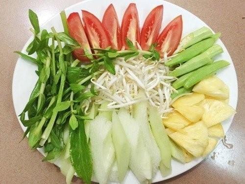 rau để nấu canh chua cá diêu hồng
