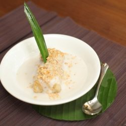chuối nướng nước cốt dừa