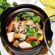 Tư vấn cách nấu lẩu dê thuốc bắc đơn giản và ăn với rau gì thì ngon?