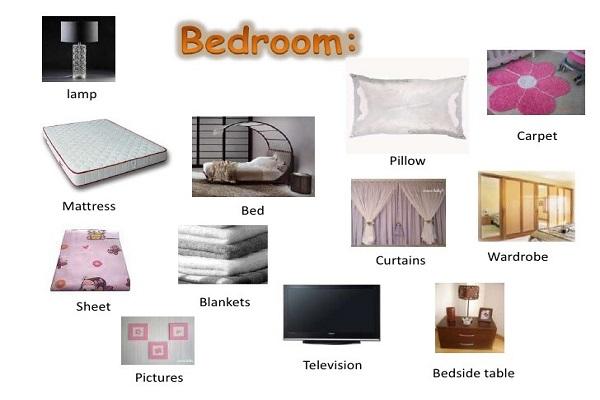 vật dụng quen thuộc có trong phòng ngủ