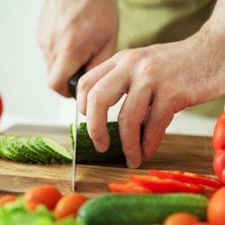 làm sạch thớt và dao