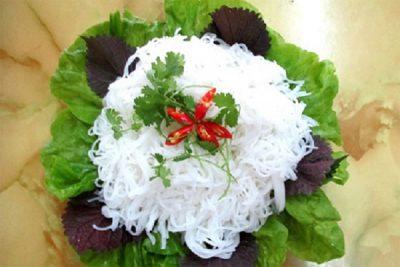 Bún tươi từ bột gạo