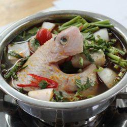 Lẩu cá diêu hồng kiểu Thái