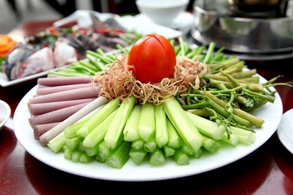 Các loại rau ăn lẩu cá lăng
