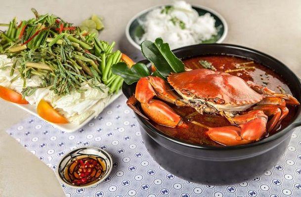 cách nấu lẩu cua biển