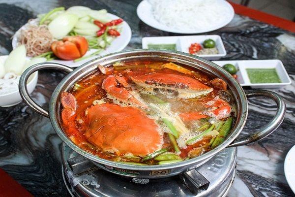 lẩu cua biển chua cay