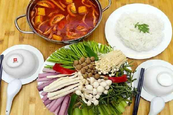 cách nấu lẩu chay chua cay