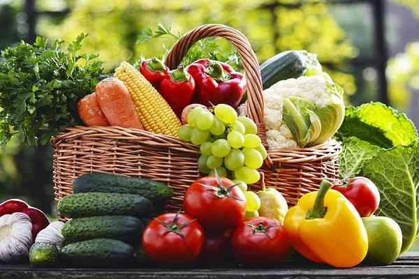 rau củ và trái cây tốt cho ăn kiêng