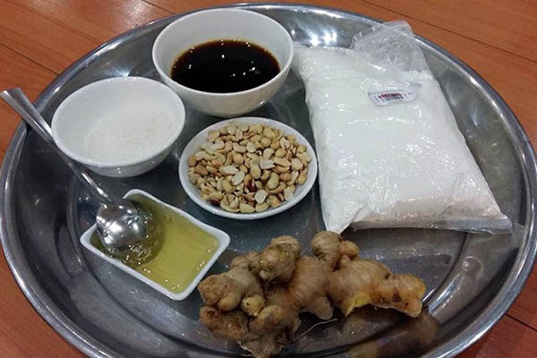 nguyên liệu nấu chè lam