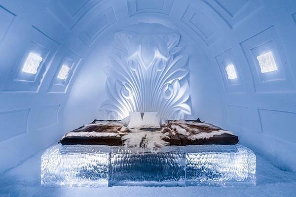Phòng nghỉ bên trong Ice Hotel