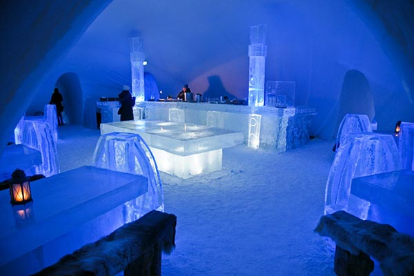 Quầy bar Ice Hotel