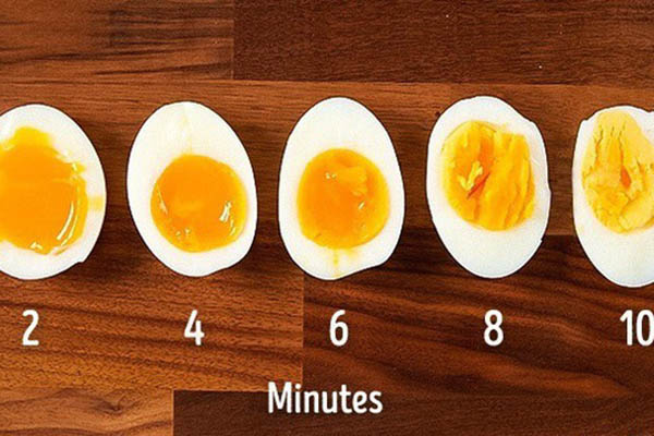 cách luộc trứng gà lòng đào ngon