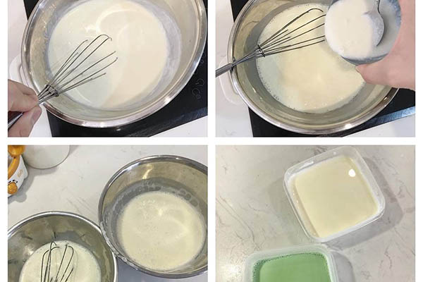 các bước nấu chè khúc bạch không cần gelatin