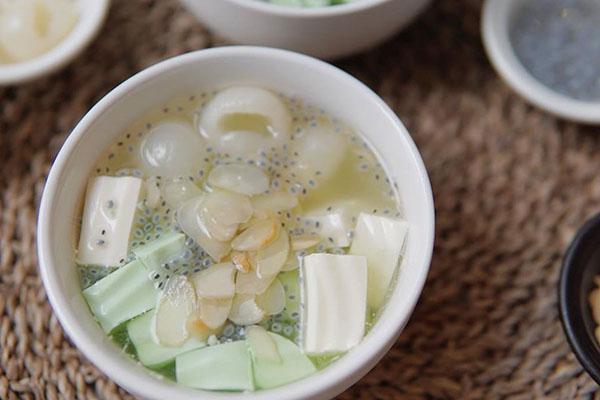 cách nấu chè khúc bạch không cần gelatin