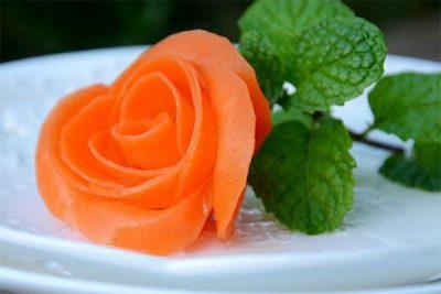 cách cắt tỉa cà rốt đơn giản