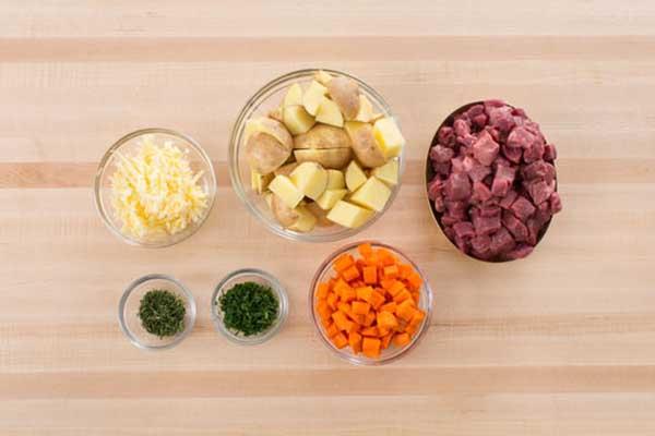 nguyên liệu canh khoai tây thịt bò