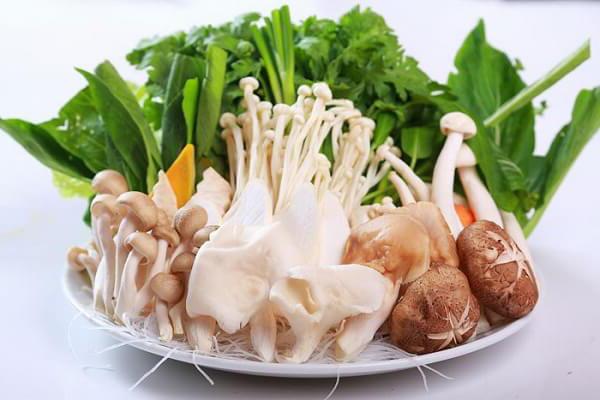 nhiều loại rau nấm
