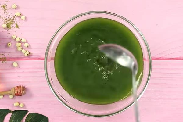 cách làm xôi trà xanh khuấy bột