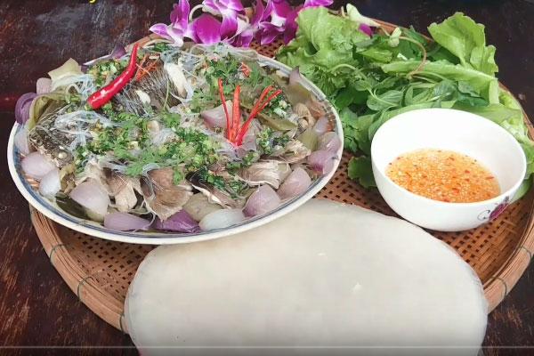 cá lóc hấp dưa cải chua thơm ngon
