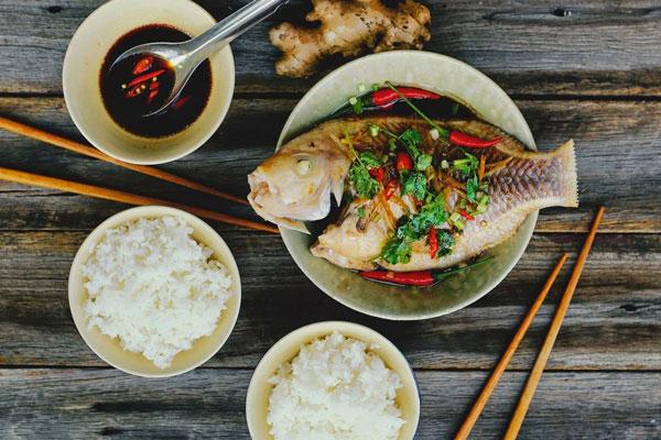 hương vị món cá hấp