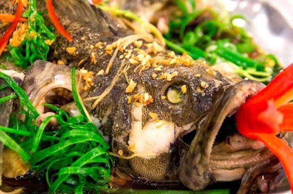 món cá bớp hấp hồng kông
