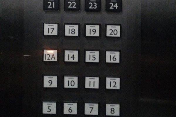 nhiều nơi né số 13 bằng cách đổi thành 12a