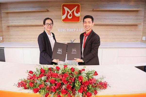 ký kết thoat thuận hợp tác công ty TNHH MTV Đầu Bếp Á Âu và công ty Cổ phần Vinpearl