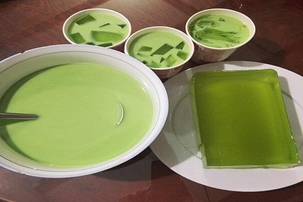 hình ảnh làm thạch rau câu trà xanh