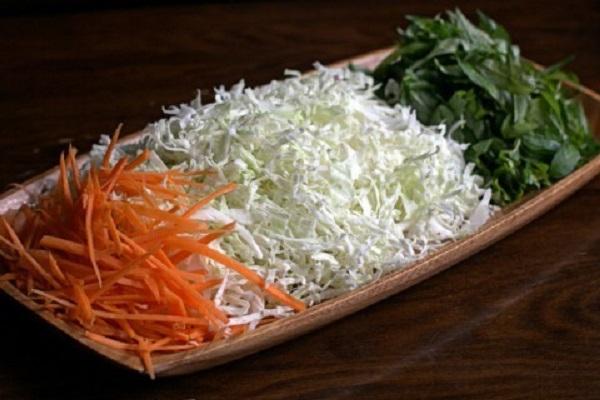 hình ảnh nguyên liệu làm gỏi vịt bắp cải