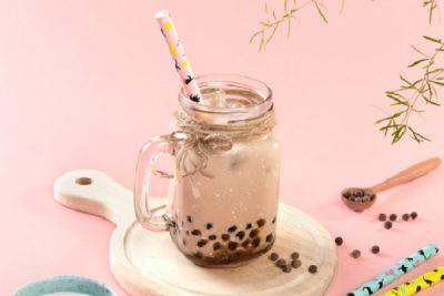 hình ảnh trà sữa trân châu bằng trà lipton