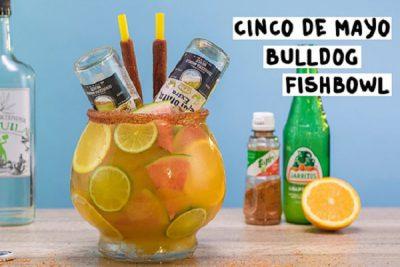 hình ảnh bia úp ngược bulldog fishbowl vị cam dừa
