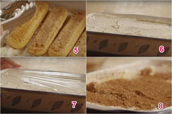 thành phẩm món bánh tiramisu socola
