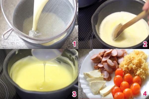 hình ảnh các nguyên liệu của bánh bông lan trứng muối