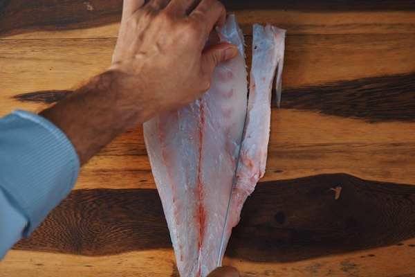 hình ảnh lạng bỏ xương dăm mỡ bụng cá chem