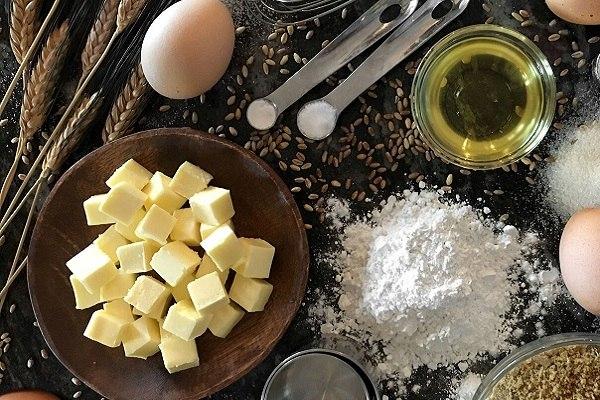 hình ảnh các nguyên liệu trong làm bánh