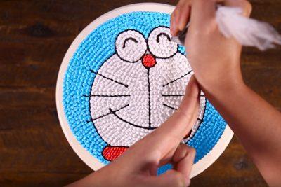 Hoàn thiện hình vẽ trang trí 2D trên bánh kem