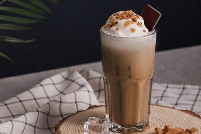 cách làm cappuccino dừa đá xay