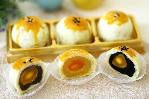 làm nhân bánh trung thu trứng muối